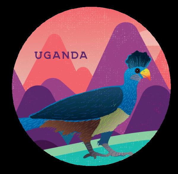 Uganda label